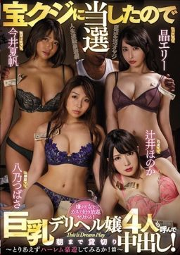 MIRD 206 256x362 - [MIRD-206] 宝クジに当選したので巨乳デリヘル嬢4人も呼んで朝まで貸切り中出し!~とりあえずハーレム豪遊してみるか!篇~ Prostitutes Digital Mosaic Imai Kaho 晶エリー Akira Eri